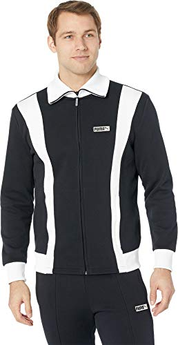 PUMA Iconic T7 Spezial Track Jacket (Large, Cotton Black)