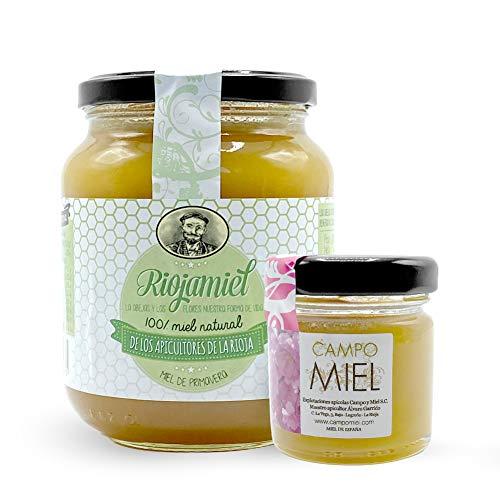 Miel de abeja pura | Miel de primavera de España 100{54efbb31d266fe623084f02253d3bbd8ca01c26a2b9af9ccd88fdc3ceec4b40a} Natural, Organica, Fresca y Cruda 950 Gr / Miel cruda, extracción en frío