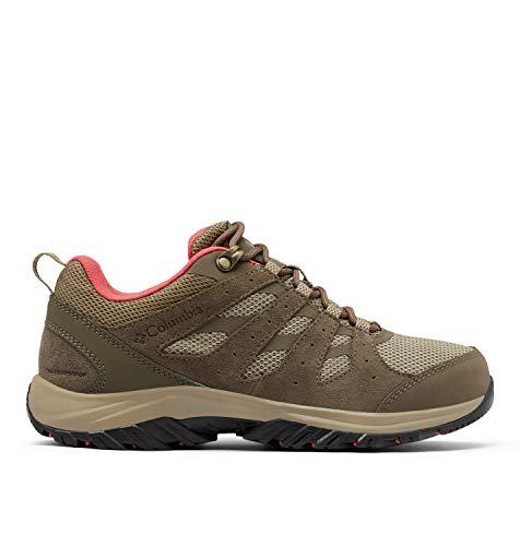 Columbia Redmond III Waterproof, Zapatillas para Caminar Mujer, Coral Rojo Guijarro, 37 EU