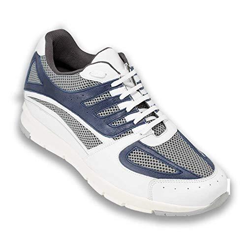 Zapatos de Hombre con Alzas Que Aumentan Altura hasta 7 cm. Fabricados en Piel. Modelo Siena Azul 42