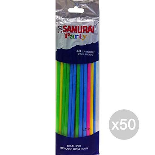 Samurai Set 50 Cannucce X 40 Pieghevoli Colorate Cm 24 Cucina E La Tavola
