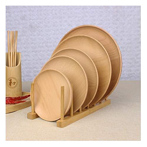 LYUN Multifunzione Bamboo Ripiano scolapiatti Dish, Titolare della Cucina di bambù Coppa Pot Coperchio Tagliere Rack, ECC Staccabile