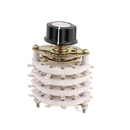 New Lon0167 Selector de interruptor giratorio de canal de banda de eje KCT 11 polo 4 tiros de 6 mm con tapa(KCT 11 Pol 4 Wurf 6mm Wellenband Kanal Drehschalter Selecter w Cap