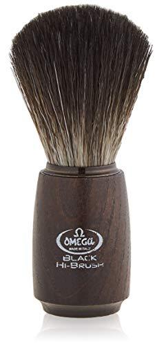"""Omega 0196712 - Pennello da barba in fibra""""Black Hi-Brush"""""""