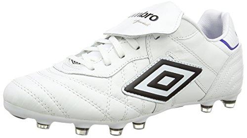 Umbro Speciali Eternal PRO HG, Scarpe da Calcio Uomo, Bianco (White/Black/Clematis Blue Daz), 41 EU