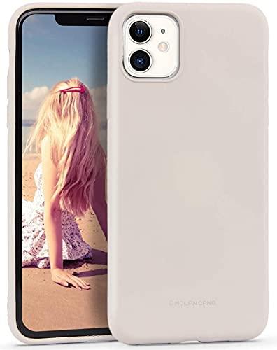 Imikoko Hülle für iPhone 11 Hülle Matt Silikon Dünn HandyHülle Stoßfest Slim Gummi Schutzhülle Kratzfest Hülle Cover