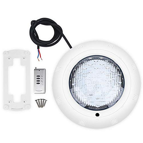 Tbest LED Unterwasserlampe Schwimmbadlampe,18W Mehrere Farben LED Unterwasserlampe Schwimmbad Fernbedienung Wasserdichtes Licht