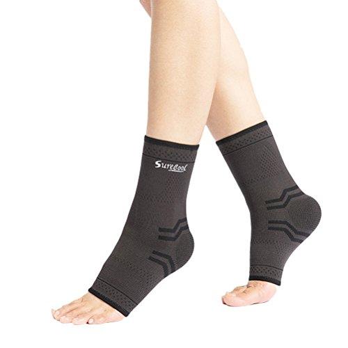 ULTNICE Tobillera Deportiva Protección de tobillos para prevenir de Esguince lesiones en el tobillo de las actividades diarias Unisexo Tamaño L - 1 Par (Negro)