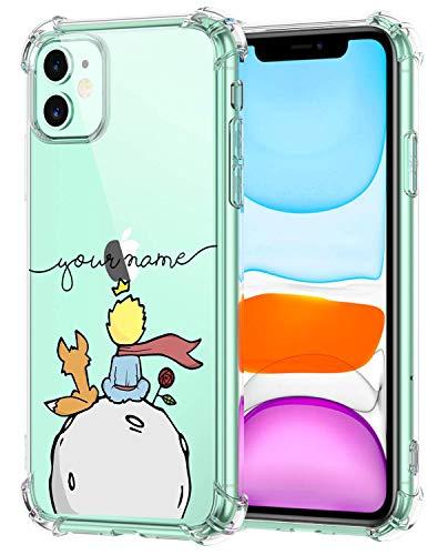 Oihxse Funda Compatible con iPhone 12 Pro 6.1'' 2020 Ultra Delgada Ligera Transparente Silicona TPU Gel Suave Carcasa Elegante Patrón Anti-Rasguño Protector Caso-Principito