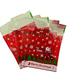 U/K PULABO ExquisitCandy Bag Cookies Snacks DIY regalos bolsas de plástico autoadhesivas para Candy Bar boda Navidad Fiesta Supplies-100pcs 2 muy práctico y popular