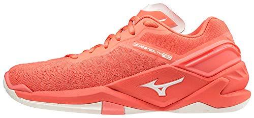 Mizuno Damen Wave Stealth Neo Handballschuh, Coral Pink, 39 EU