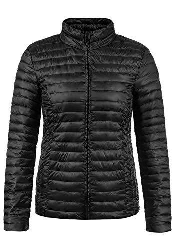 JACQUELINE de YONG Britta Damen Übergangsjacke Steppjacke leichte Jacke gefüttert mit Stehkragen, Größe:XL, Farbe:Black