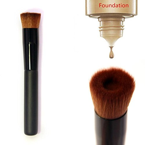 Make Up Brushes  Italily Nero piatto Perfecting viso spazzola del fondamento Premium pennello trucco