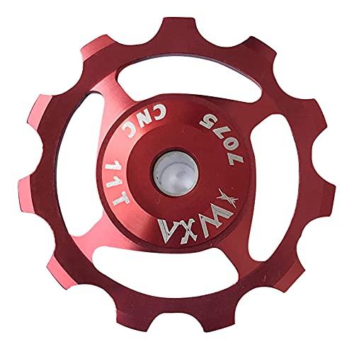 InnerSetting Mountain Bike Bearing Jockey Wheel Rear Derailleur Guide Pulley (Red 11T)