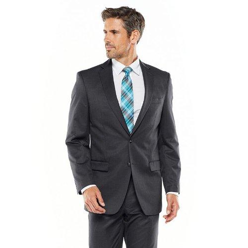 P&L Men's Suits 2-Piece Classic Fit 2 Button Office Dress Suit Jacket Blazer & Pleated Pants Set Tan