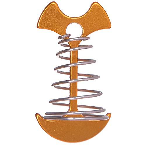 Rosepoem Clavos de espiga de espiga más largos cargados por resorte comprado espigas de espina de pescado con resorte para tiendas de campaña fijas