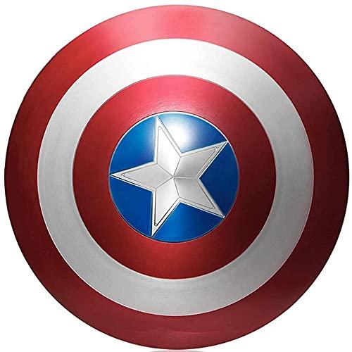 SKINGO Escudo Capitan America AleacióN Aluminio Avengers Serie Legendaria Accesorios De PelíCula Adult/Child Halloween Cosplay Disfraz De SuperhéRoe Escudo, 60 Cm