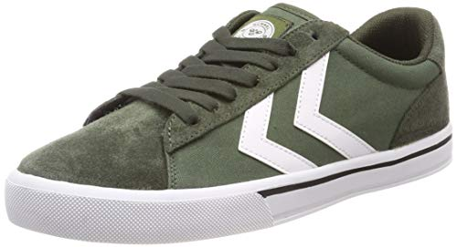 hummel Unisex-Erwachsene NILE Canvas Low Sneaker, Grün (Olive Night 6453), 40 EU