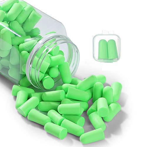 Ohrstöpsel für Gehörschutz, Über 35 dB SNR Weichen Schaumstoffstöpsel für Schlafen,Lernen, Schnarchen, Baulärm, Flugzeug, Arbeit, Lernen, Schwimmen(50 Paar) (Green) (Green)