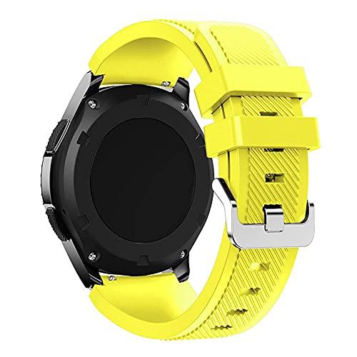 Correa de silicona compatible con Samsung Galaxy Active Gear S3 Frontieramazfit bip/gtr 47 mm/Galaxy Watch 46 mm suave pulsera deportiva 22 mm 20 mm, 20mm, Silicona Acero inoxidable, Correa de reloj,