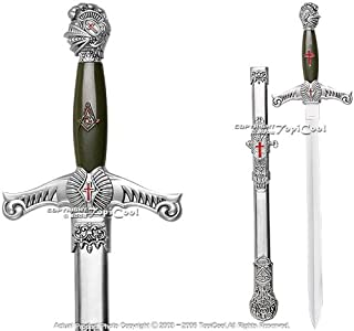 Ceremonial Masonic Templar Knights Sword Dagger w/ Scab