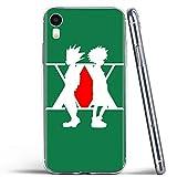 Carcasa de telefono Funda iPhone 11/11 Pro/11 Pro MAX Cover,Vidrio Templado Contraportada y? Suave Silicona Anti-rasgu?os de Parachoques Estuche Protector Hunter x Hunter-1_iPhone_XSMAX