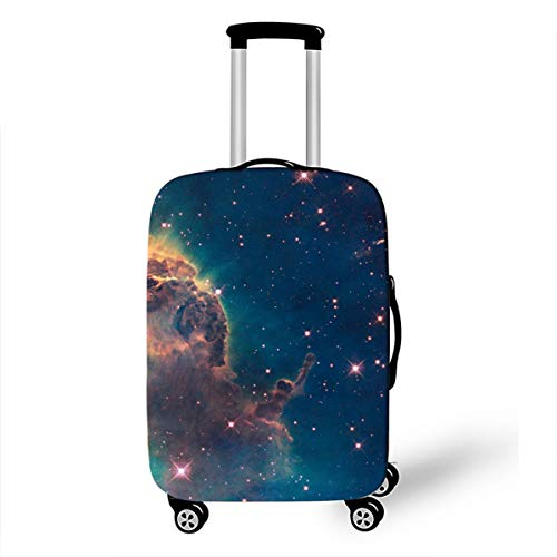 Trolley Case Protective Cover, DOTBUY 3D Print Premium Travel Suitcase Protector Elastic Anti-Scratch Dustproof Luggage Sleeve Cover Elasticized Washable (Interstellar,M (22-24 inches))