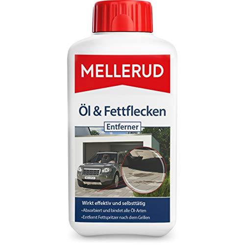 Mellerud Öl & Fettflecken Entferner – Wirkungsvolles Mittel gegen hartnäckige Verschmutzungen auf Allen Oberflächen im Innen- und Außenbereich – 1 x 0,5 l