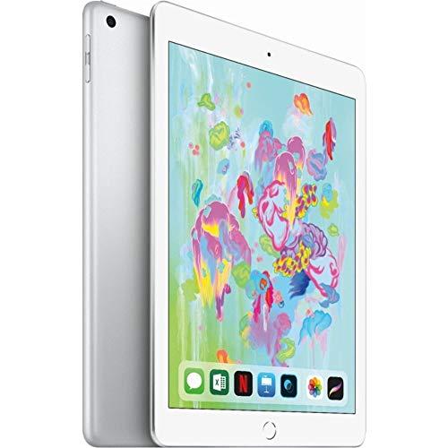 Apple 9.7in iPad (6th Generation, 128GB, Wi-Fi Only, Silver) (Renewed)