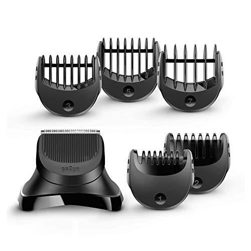 Braun Series 3 - Pack con cabezal de recortadora de barba y 5 peines BT32, compatible con afeitadora eléctrica Series 3, color negro