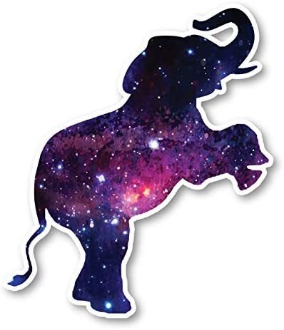 Elephant Jumping Sticker Galaxy Stickers Laptop Stickers 2 5 Vinyl Decal Laptop Phone Tablet product image