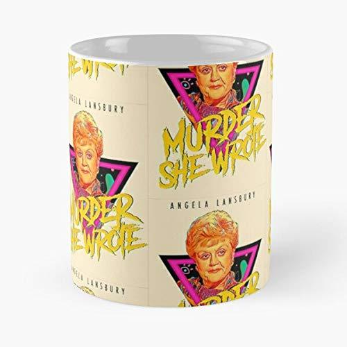 Jessica Jb schreef Murder Lansbury Angela Fletcher Fansbury She - Le meilleur 11 oz 15 oz fabrikant van café en céramique de marbre blanc I - Personnaliser