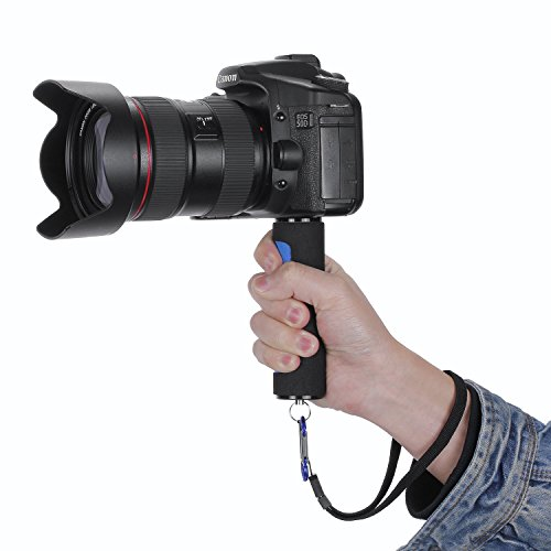 Hand Grip Handle Stabilizer with Strap for Digital Cameras, Camcorders, GoPro Hero, Sony Action Cam and Other DSLR Cameras, Blue