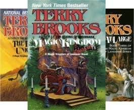 Terry Brooks' 5-book set MAGIC KINGDOM OF LANDOVER series -- Magic Kingdom Sold / Black Unicorn / Wizard at Large / Tangle...