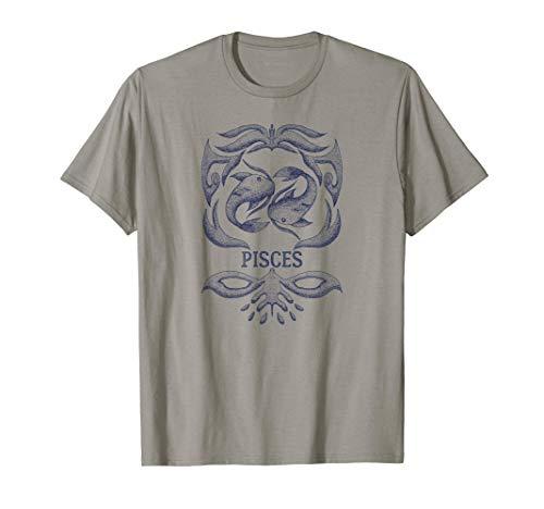 Camiseta retro del zodiaco Piscis Regalo de cumpleaños Signo Camiseta