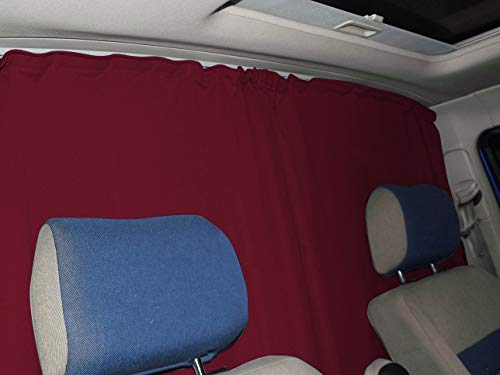 Abtrennung Fahrerhaus Sonnenschutz Führerhaus Gardinen Vorhang kompatiebel mit Peugeot Partner Tepee ab 2008-2012...