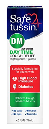 Safetussin DM Day Time Cough Relief Syrup, 4 Ounce Bottle