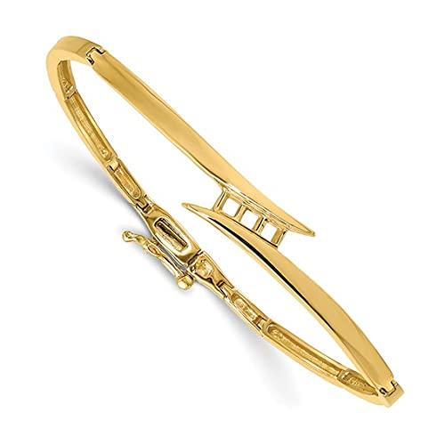 Jewelry-14k VS Diamond Hinged Bangle Bracelet