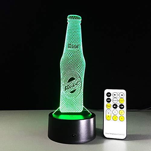 Acryl Bierflasche Weihnachten Jahr Geburtstag Kaffee Bar Deko 3D LED Nachtlicht Tischlampe Nachttisch Dekoration Kinder Geschenk