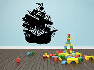 Vinyl Wall Art Decal - Pirate Ship - 23