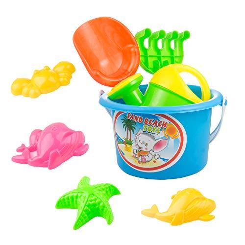 Czemo Giocattoli da Spiaggia Giocattolo di Sabbia Set Giochi Mare Spiaggia Giochi Secchiello Formine Sabbia per Bambini, Colore Casuale