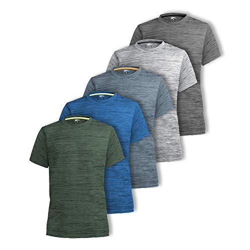[5 Pack] Men's Dry-Fit Active At...