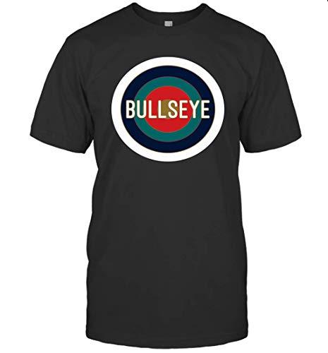 T-Shirt mit Zielscheiben-Motiv, Bullseye Gr. M, Schwarzes T-Shirt