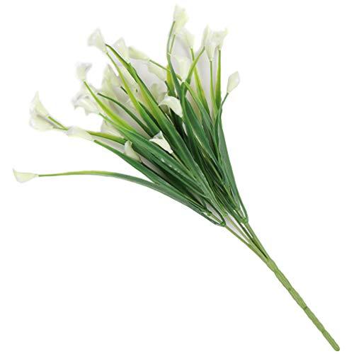 Yinew Künstliche Calla Bouquet Simulation Blumen Gefälschte Pflanzen DIY Hausgarten Hochzeit Dekoration, Weiß