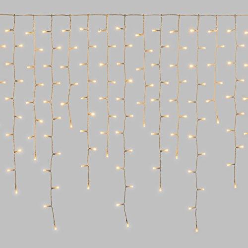 LuminalPark Stalattite 3,5 x 0,85 m, 432 LED Bianco Caldo, Luce Fissa, Cavo Bianco, 24V, prolungabile, Esterno