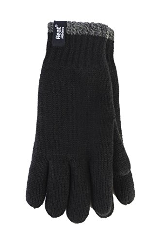Heat Holders Mens 1 Pack Contrast Thermal Gloves Small/Medium Bl