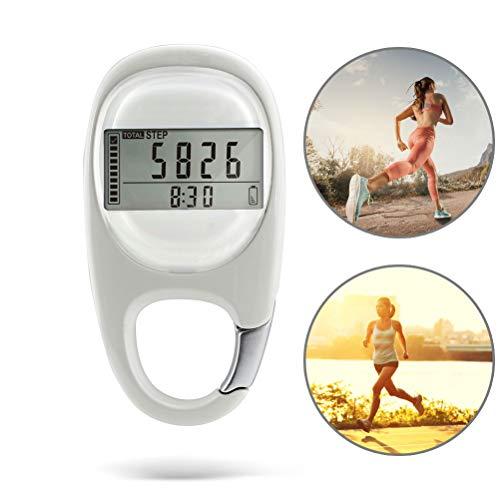 3D stappenteller met karabijnhaak Activity Fitness Tracker calorieën Counter afstand voor mannen vrouwen kinderen