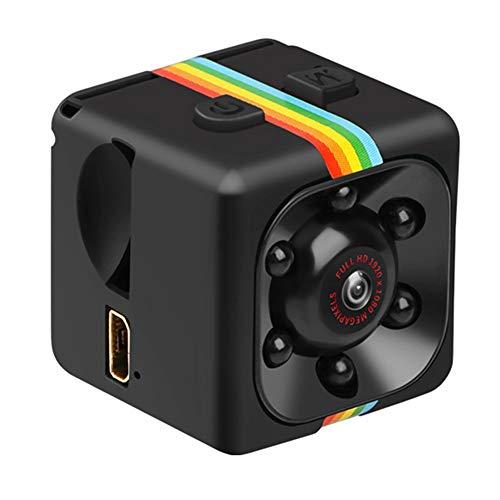 Hidden Camera, 1080P Mini Camera, SQ11 Sensor Night Vision Sport DV, Nanny Motion Detection Camcorder Infrared Digital Video Recorder (Black)