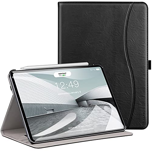 Ztot0p Funda para iPad Air de 4ª generación de 10.9 pulgadas, cubierta de cuero delgada, color negro