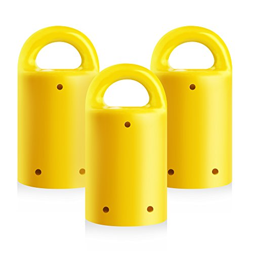 MagnetPal 3 pack Heavy-Duty Neodymium Anti-Rust Magnet, Best for Magnetic Stud Finder / Key Organizer / Indoor and Outdoor Multi Uses, Yellow with Key Ring (SP-MPM3YL)